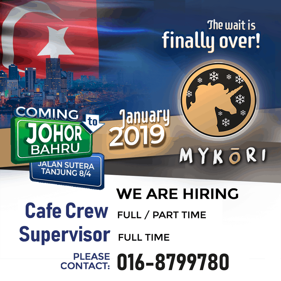 We Are Hiring in Johor Bahru!